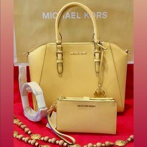 Michael Kors Ciara Dusty Daisy and Double Wallet
